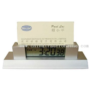 Alarm Clock With Name Card Holder from China