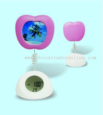 Apple-shaped Photo-frame Alarm Clock
