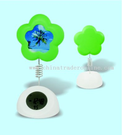 flower shape photo-frame alarm clock