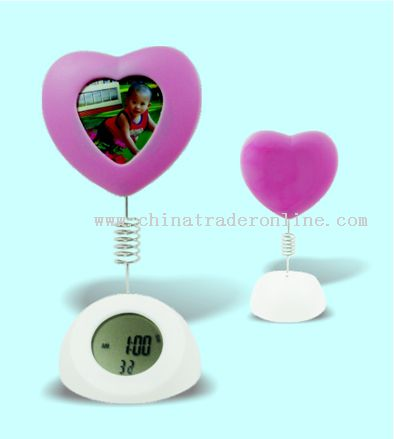 heart shape photo-frame alarm clock