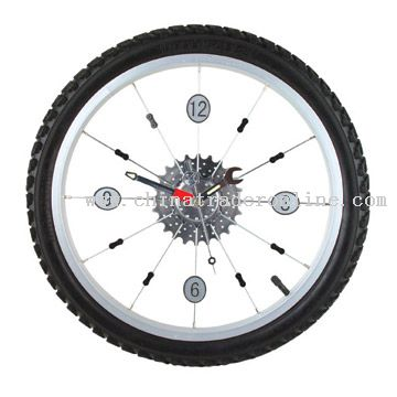 Bicycle Tyre Clock