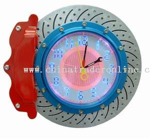 Brake Disc Wall Clock With LED Light