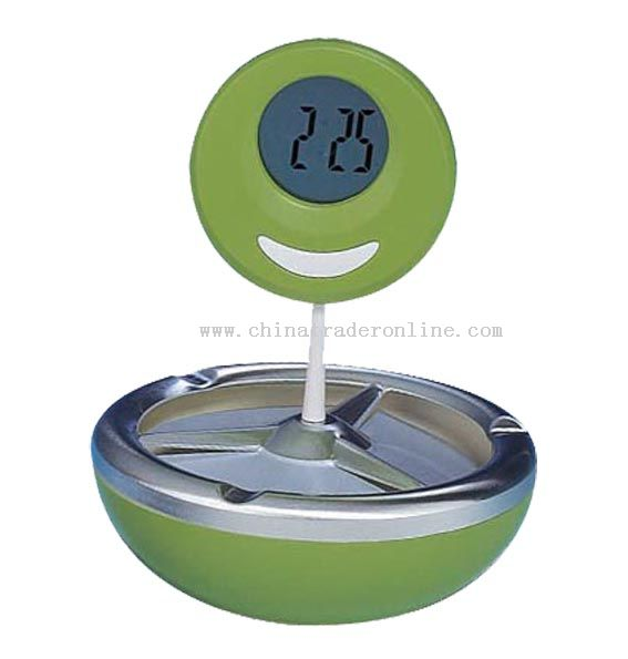 Ashtray clock