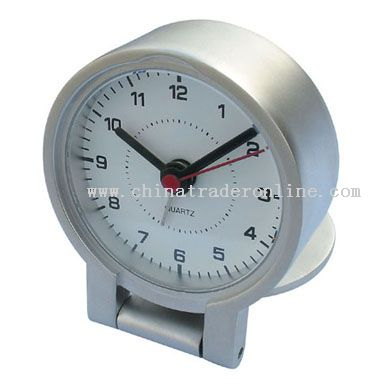 matt silver Desk Clock