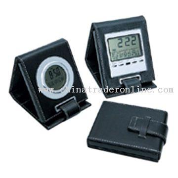 Foldaway LCD Clocks from China