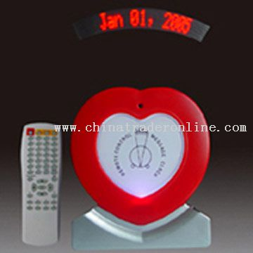 Remote Control LED Message Clock