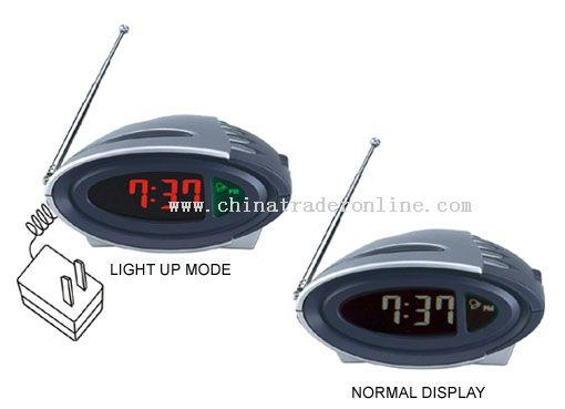 LCD Talking Clock with Radio