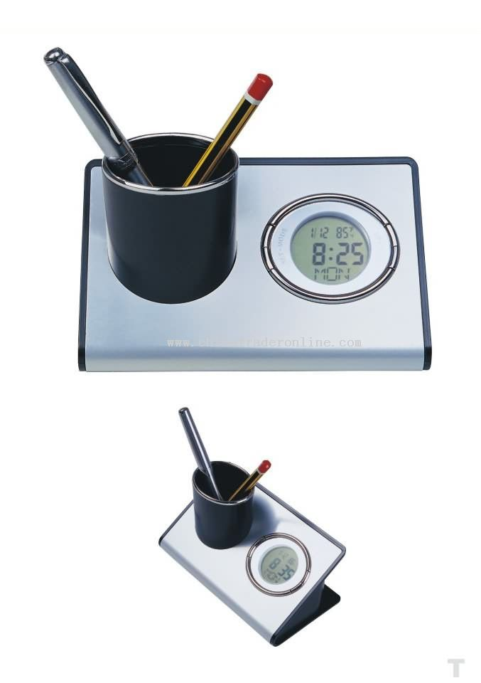 CLOCK PEN-HOLDER MULTIFUNCTIONAL BOX
