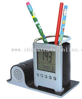 Clock Pen Holder with Record from China