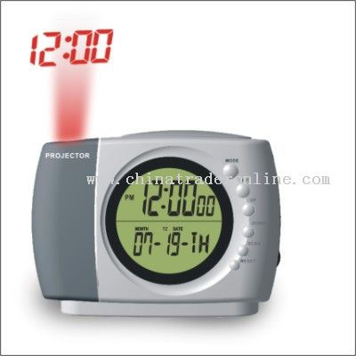 FM radio with projection clock