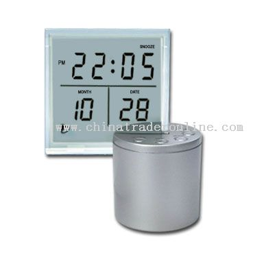 Transparent LCD Melody Clock