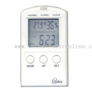 Hygro-thermometer With Clock