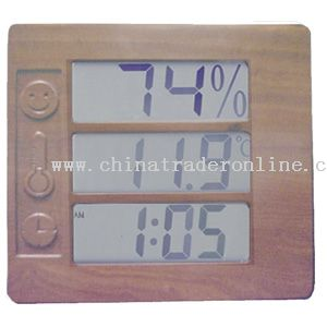Wall Clock With Hygro-thermometer