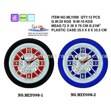 Tire Shape Clocks