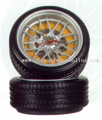 Alloy Wheel Clock from China