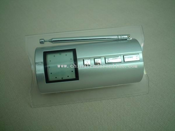 2 in 1 microcomputer control FM radio and clock
