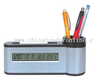 Pen Holder, Name Holder with clock