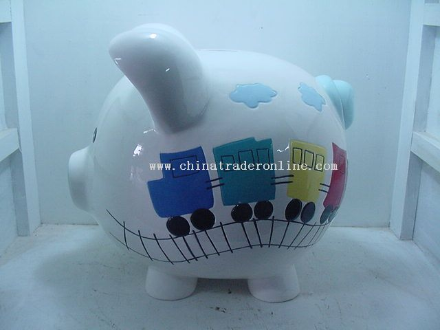 Jumbo Train Piggy Bank