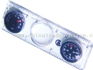 Thermometer Compass Magnifier Ruler