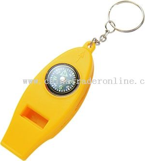 Whistle Compass Key Chain