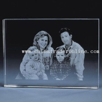 3D Laser Crystal Gifts, Custom Paperweights, Laser Engraved Glass