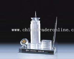 CRYSTAL MODEL OF BUILDING