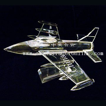Crystal Airplane Model