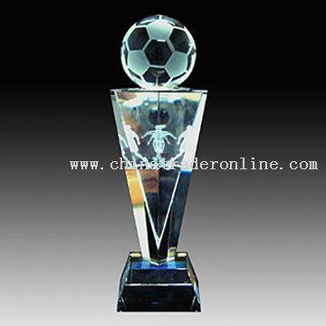 Crystal Inner Carving Trophy