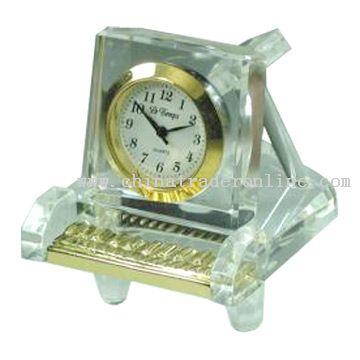 Crystal Piano Clock