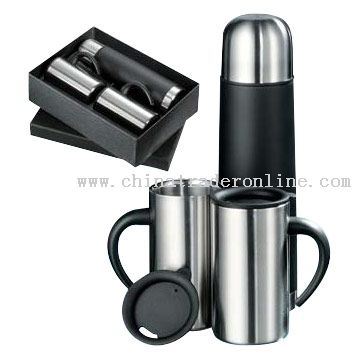 Flasks and Mugs Gift Set