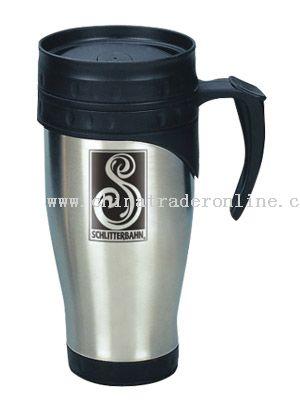 Plastic Mug With Steel Rim