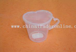 heart shape microwave milk cup