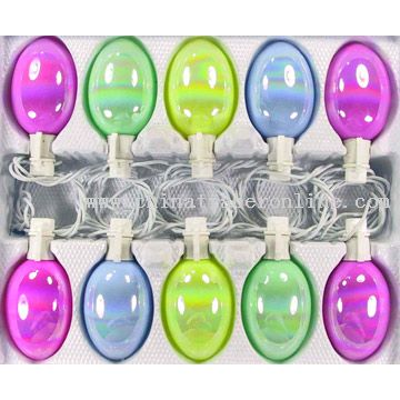 10L Glass Easter Egg Light Set