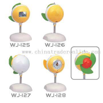 Fan, Calendar, Radio, Clock, Mini Lamp
