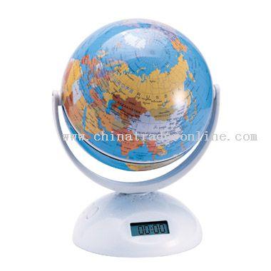 Globe fm radio with clock from China