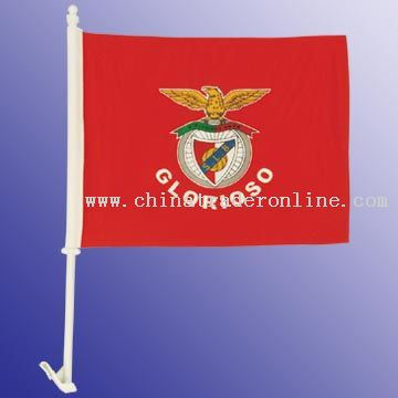 High-Quality 2-ply Car Window Flag With Clip Attachment from China