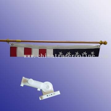 72 steel flag pole & nylon bracket from China