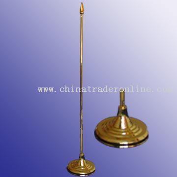 Desktop flagpole & base, Plastic, 36.5 cm X 7 cm