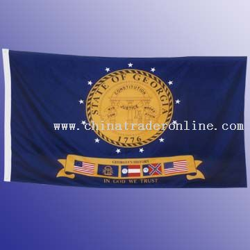 200D Nylon Flag With Canvas Header And 2 Brass Grommets, 4 x 6, 5 x 8