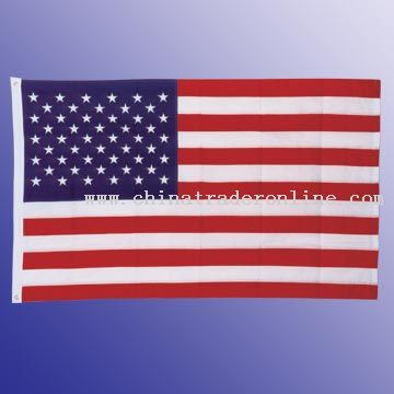 Embroidered USA Flag with Canvas Header and 2 Brass Grommets