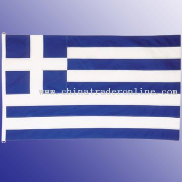 High quality Greek flag 75 x 110 cm, 150D polyester, all-swen stripes, Two D ring or Brass grommets