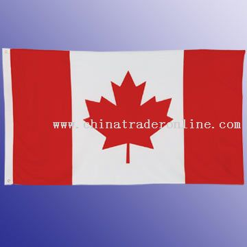 High-Quality Flag, Knitted Polyester, 75D and 150D polyester with two grommets