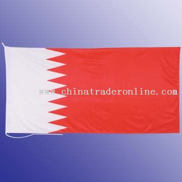 High quality knitted polyester flag canvas header, cord and 2 wooden toggles