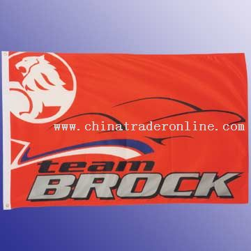High quality knitted polyester flag with white header and 2 brass grommets 90 x 150cm