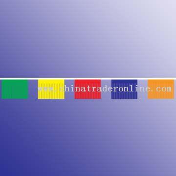 Bunting 30 x 40 cm flag, PE thickness 80 microns, 2.3 pcs per meter, 50 meters