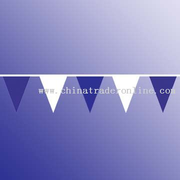 Bunting 30 x 40 cm triangles, PE thickness 80 microns, 2.3 pcs per meter, 45 meters from China