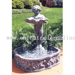 Cherub with Shell Fountain