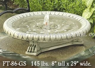 Longwood Garden Claw-Footed Basin Fountain from China