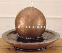 Copper Tabletop Sphere Fountain