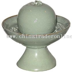 Wholesale feng shui ceramic fountain green buy discount feng shui feng shui ceramic fountain green from china workwithnaturefo